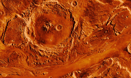 Aerial view of the Mars
